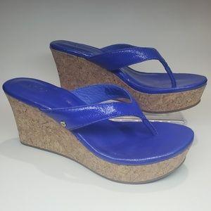 UGG AUSTRALIA wedge cork sandals